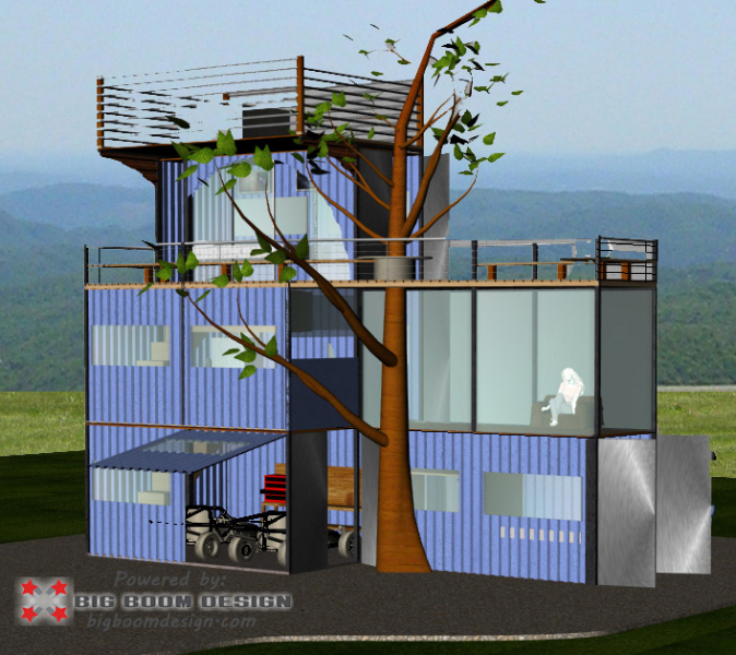 Shipping container home design nc mountains big boom blog - Designer shipping container homes ...