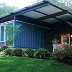 Cabin With Shipping Container Integration