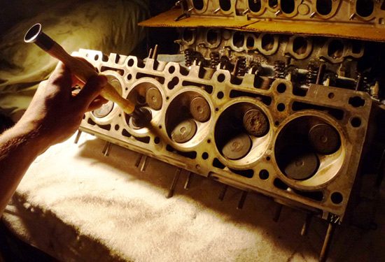 E30 BMW 325i Cylinder Head Rebuild, Fixing bent valves
